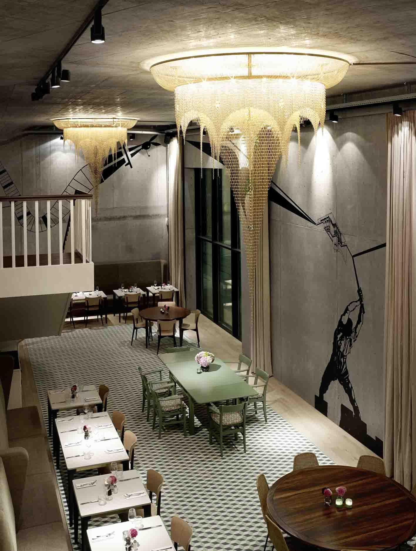 Beleuchtung im Restaurant Bebek, Architektur