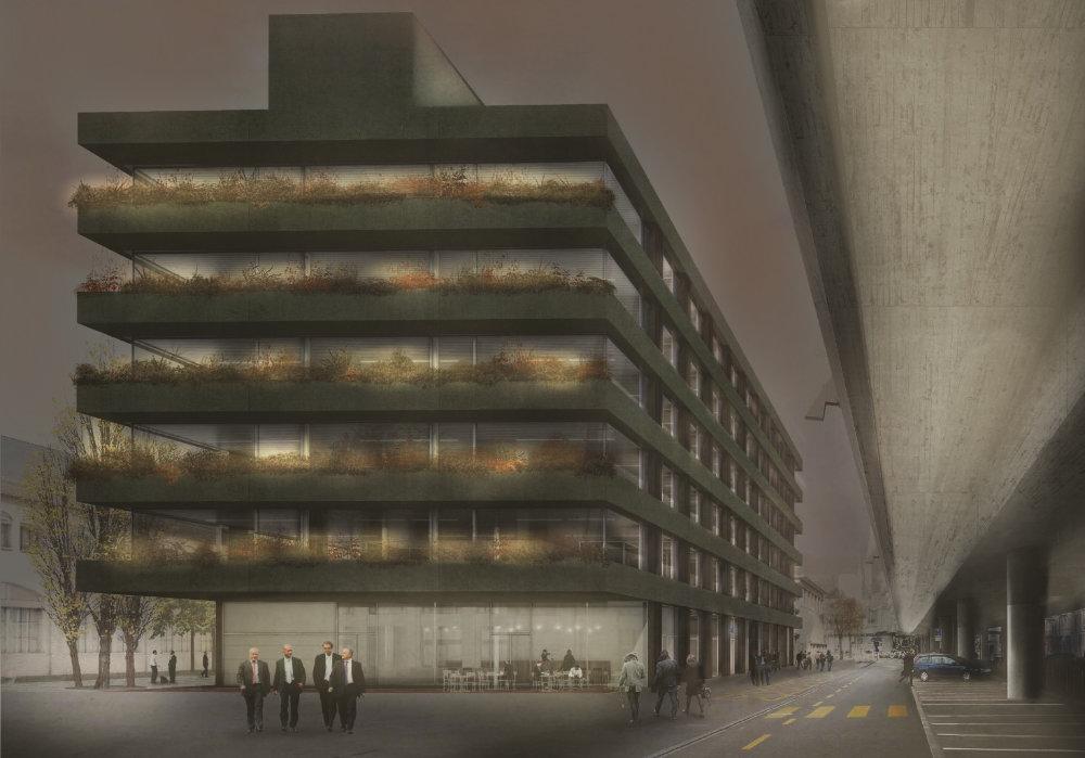 Lichtkonzept Fassadenbeleuchtung Bürogebäude